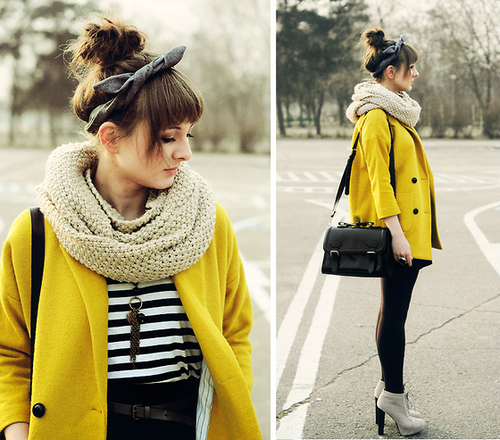 Hello Yellow Peacoat | Fashionique by Dominique