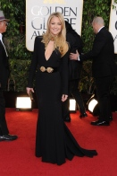 """I went for comfort"" claims Kate Hudson in a cutout Alexander McQueen gown."
